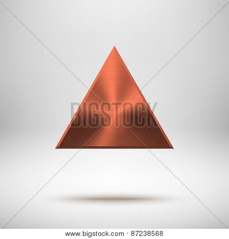 Bronze Abstract Triangle Button Template