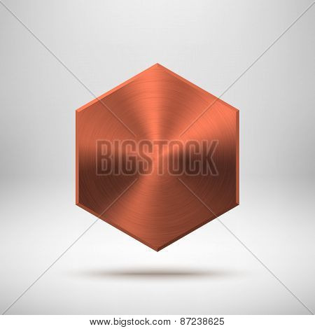 Bronze Abstract Polygon Button Template
