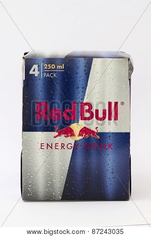 A Four Pack of Red Bull Energy Drinks