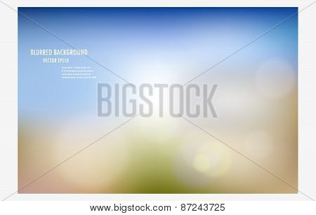 Abstract Blur Background.colorful Background Burred Wallpaper.vector Illustration Soft Colored Desig