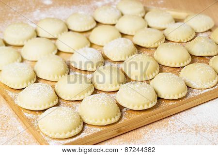 Preparation Russian Dumplings