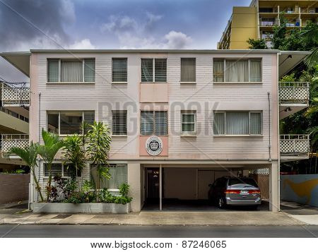 Older apartment building, Waikiki