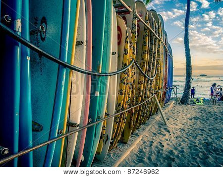 Surf boards, Waikiki