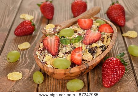 Natural Muesli With Fruit