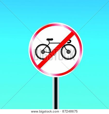 Bicycles prohibited sign