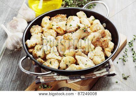 Roasted Cauliflower With Chicken