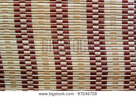 Close up of a straw mat