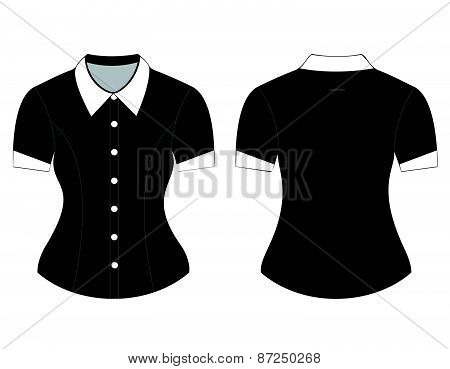 Blank shirt with short sleeves template