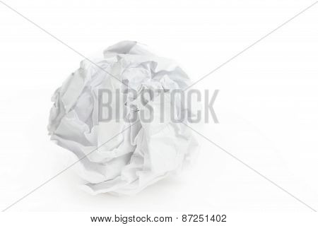 Close-up Of Crumpled Paper Ball