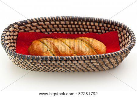 Long Loaf Basket over White