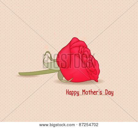 Happy mothers day with rose flower
