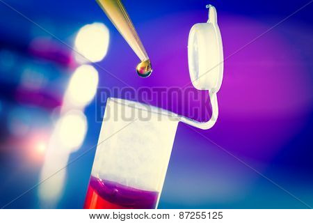 Pipette and plastic test tube