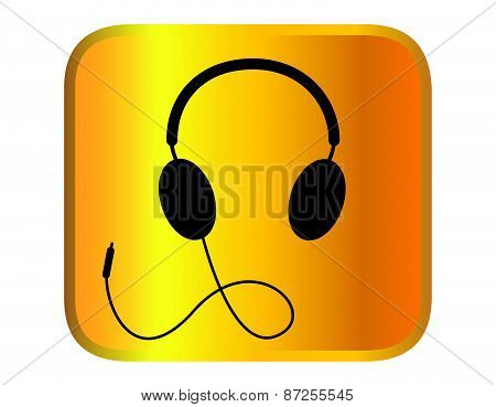 headphone for support or service