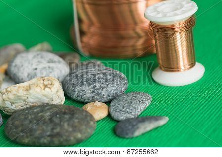 Some Stones And Copper Wire