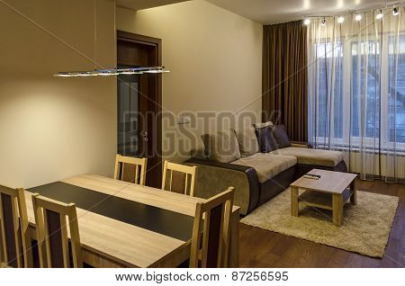 Living room with dining-table