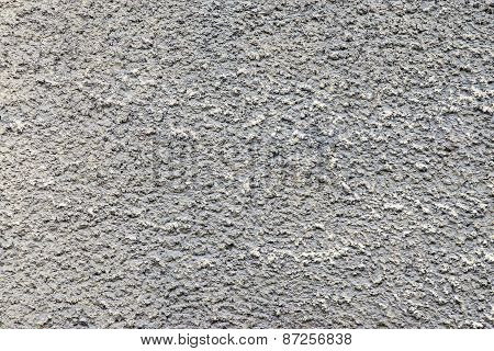 Bumpy Texture Cement Wall Of Dirty Gray Color