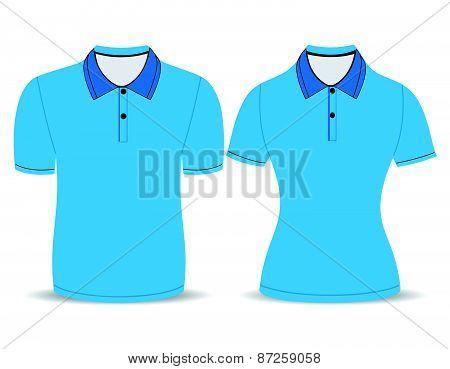 blue polo shirt outline