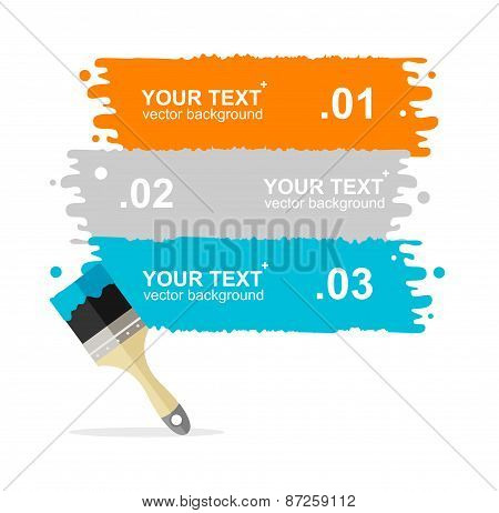 Vector colorful brushes option banner