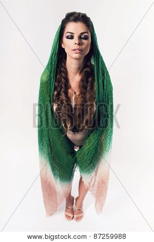 Woman With Braids In Perspective