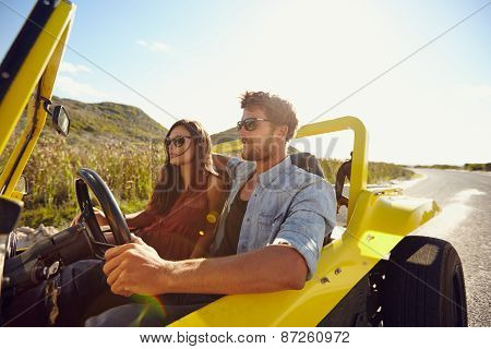 Young Couple On Roadtrip