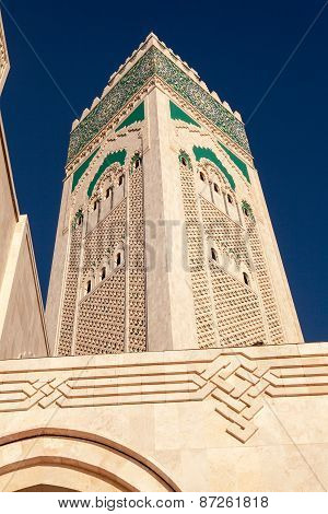 Minaret, Hassan II Mosque, Morocco