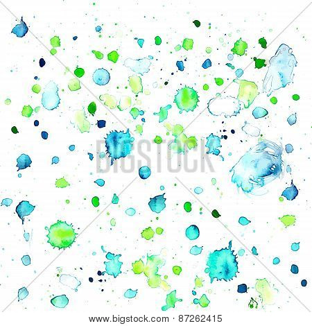 Fresh Colors Hand Drawing Drops