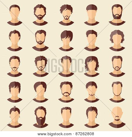 Vector Set Of Stylish Guys In Modern Flat Design