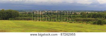 Landscape at Borodino battlefield, Mozhaysk, Moscow region, Russia
