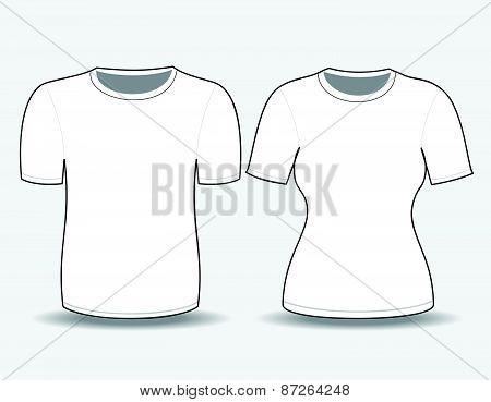 T-shirt white  template