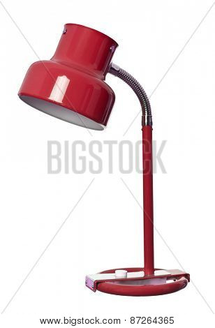 Vintage Red lamp isolated on a white background