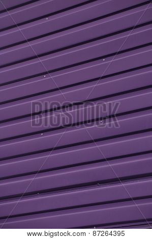 Close up of Purple Corrugated Iron Full Frame