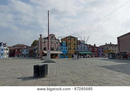 Burano main square Baldassare Galuppi (italian composer)