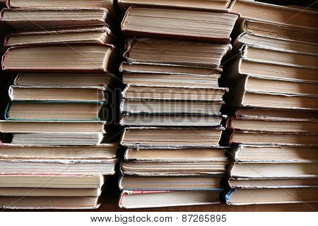 Old books, closeup
