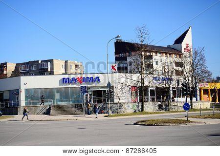 Maxima Shop In Pasilaiciai District Of Vilnius City