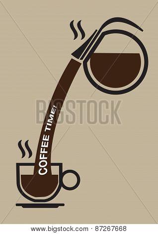 Coffee Break Conceptual Vector Illustration