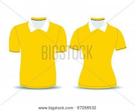 yellow polo shirt outline