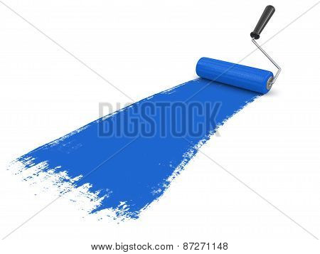 Paint roller (clipping path included)