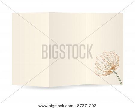 Vector Paper Blank Brochure.