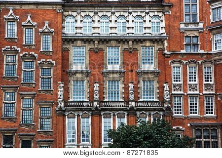 Facade Of Historical Building In London