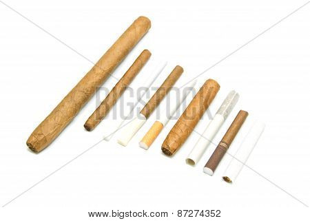 Many Different Cigarettes And Cigars