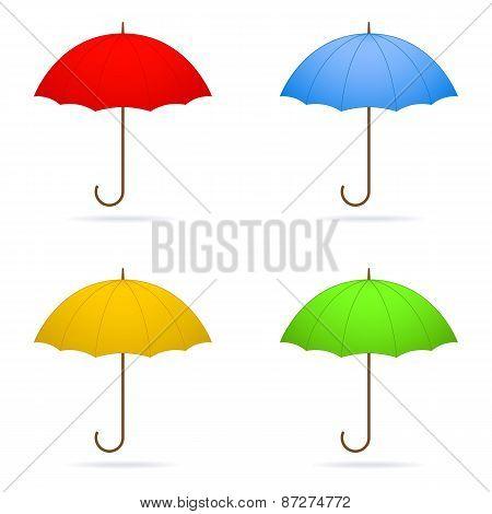 Four Umbrellas.