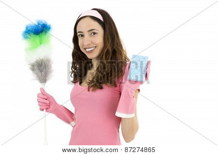 Friendly Cleaning Woman
