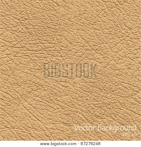 Seamless background of brown leather texture