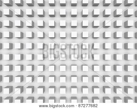 Abstract Digital Background With Relief Cubes Pattern