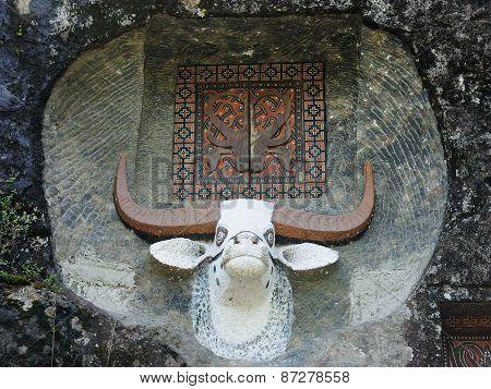 Ancient Tombs In Rock, Tana Toraja
