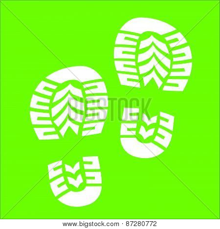 White Baby Imprint Soles Shoes