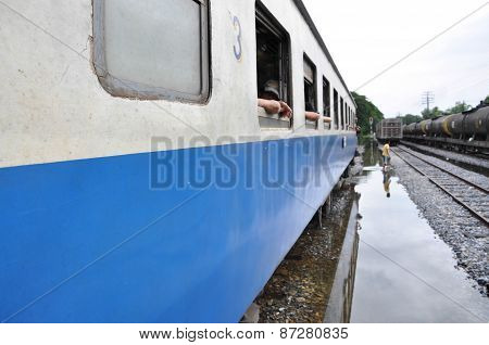 Railway In Thailand Floods