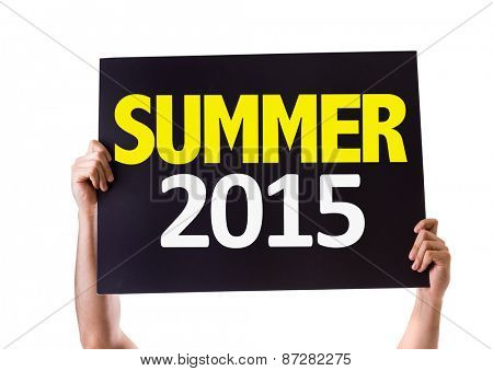 Summer 2015 card isolated on white