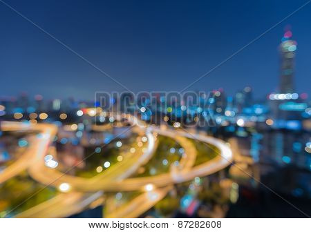 Abstract blurred bokeh of Highway curve