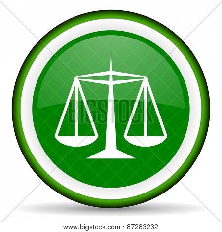 justice green icon law sign